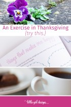 Things That Make Me Happy {An Exercise in Thanksgiving}