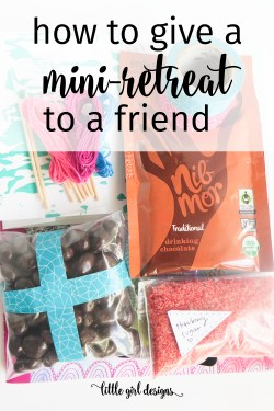 Have a friend who needs a mini-retreat? Here's how you can put together a mini creative retreat for her that she'll love. Makes the perfect best friend gift! :)
