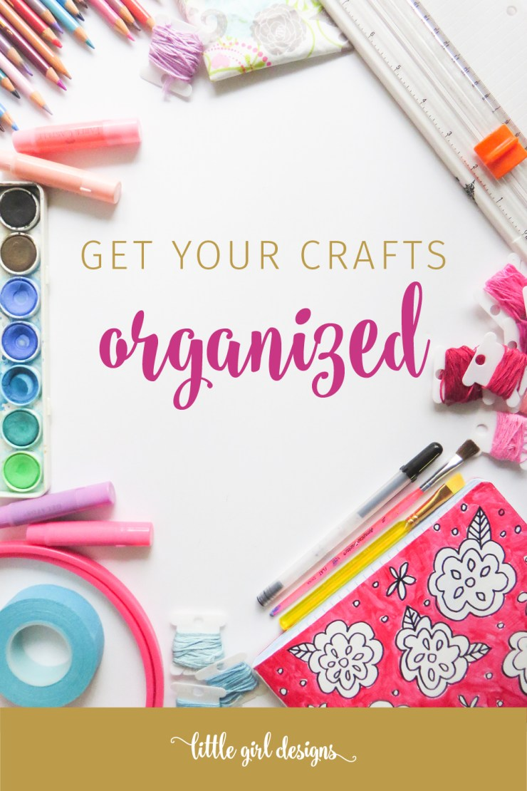 My favorite tips to get my craft area ORGANIZED. If your craft room needs some love, check these ideas out. :)