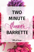 How to Make a Simple Flower Barrette