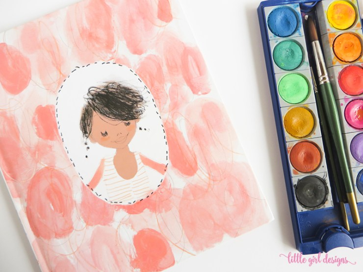 """Love Julia Denos' illustrations for """"I Had a Favorite Dress""""! This dress card tutorial is a homage to her work."""