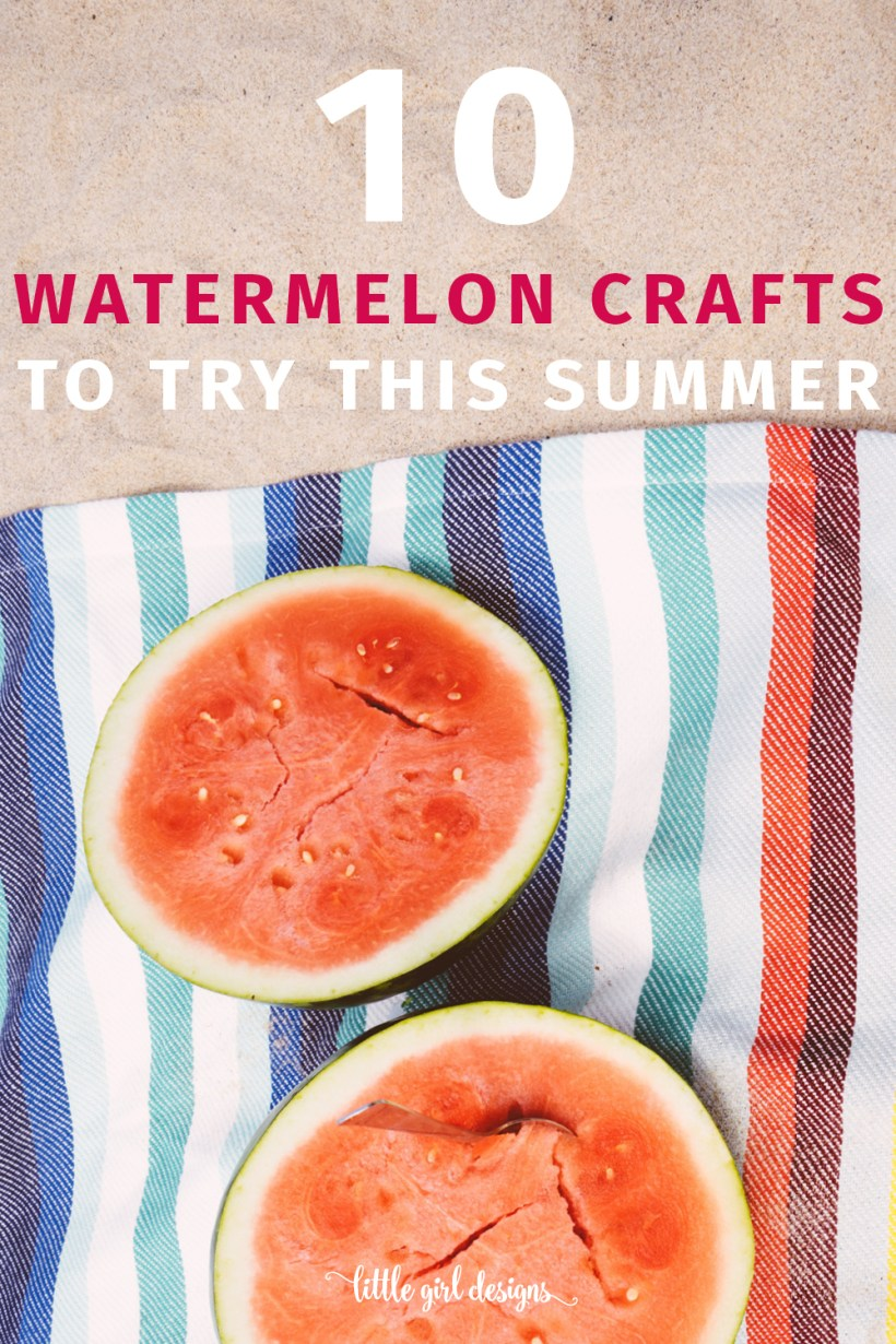 Click through for tutorials to 10 fun watermelon crafts for summer! Party favors, soap, cards, and more! I love that these cute summer crafts are simple and great for moms to make. :)