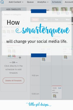 Looking for a social media scheduler that actually works and doesn't make you schedule the same awesome post over and over again? Smarterqueue is your answer. You can see exactly how it works in my video as well as enjoy a 30 day trial to try it out. I love Smarterqueue!