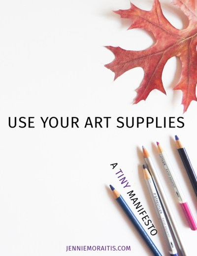 Use Your Art Supplies
