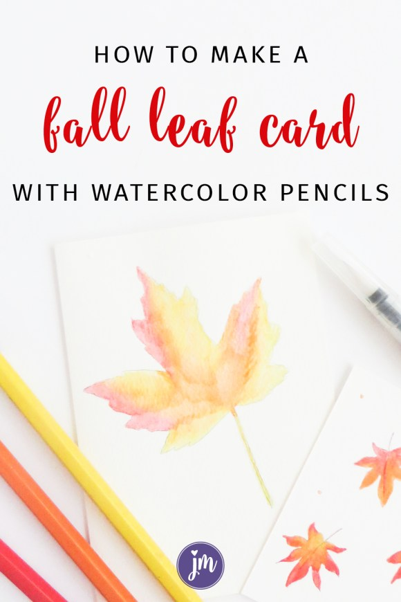 Learn how to make this pretty fall watercolor leaf card! It's sooo simple and will make your friend's day too! #snailmail #cardmaking