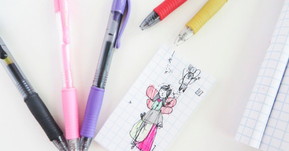 When you're trying to think about what makes you happy AND you're a kid . . . you might just draw a fairy wearing a fancy dress. Just seeing this picture makes ME happy. :) #ad @Target @pilotpenUSA #PilotPenBackToSchool #PowerToThePen #CollectiveBias @Target @pilotpenUSA