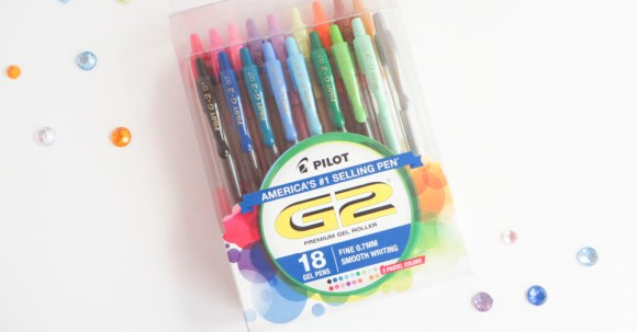 Here is the 18 pack of G2 pens from Pilot Pen. They are so much fun to play with—I'm definitely a fan. #ad #PilotPenBackToSchool #PowerToThePen #CollectiveBias @Target @pilotpenUSA