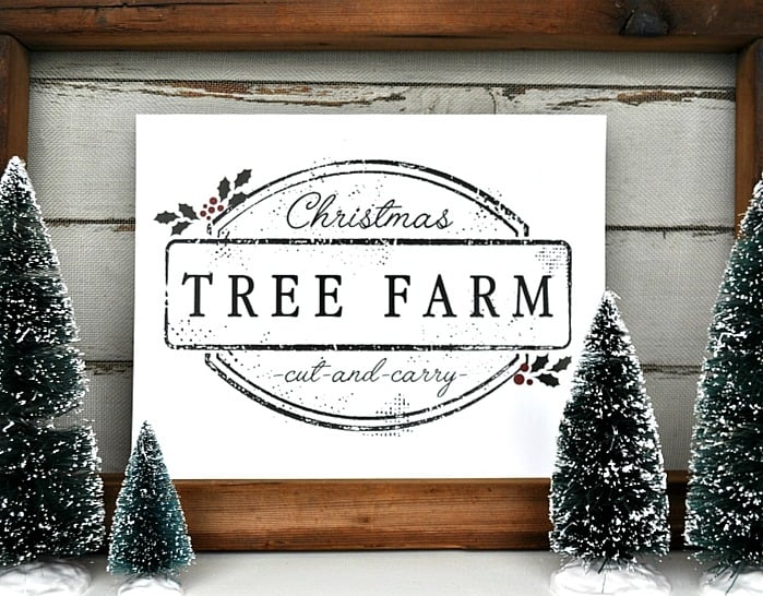 Christmas Tree Farm Printable Little Glass Jar