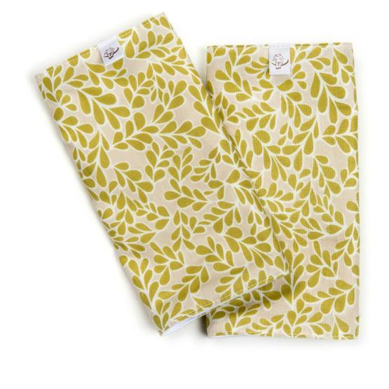 chartreuse boxwood teething pads