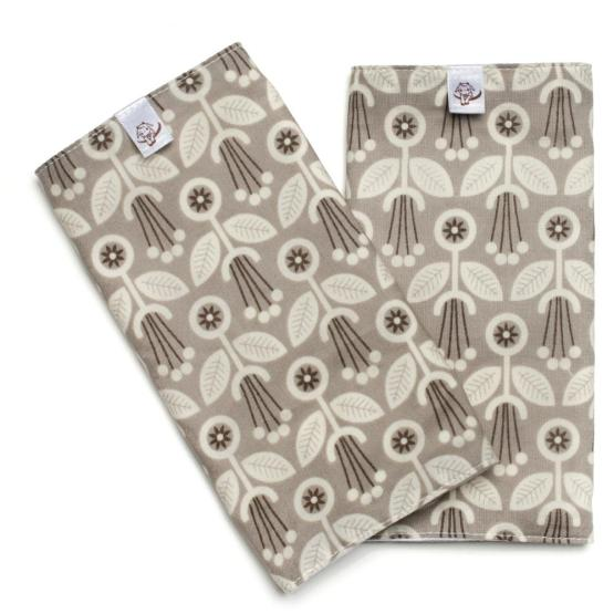 grey art deco teething pads