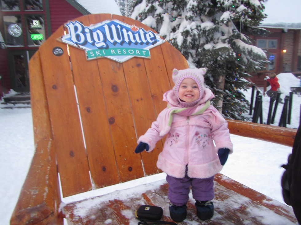 toddler at Big White ski resort