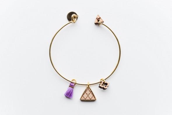 bracelet semeuse mauve