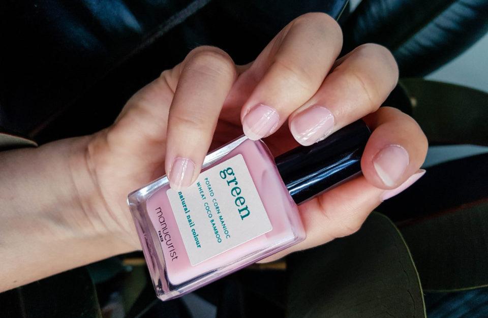 avis vernis manucurist green pale rose