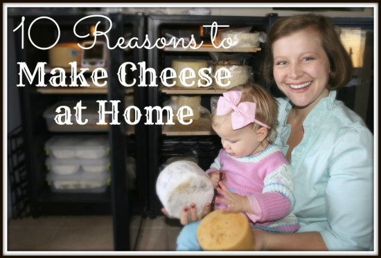 Rashel Harris with daughter and cheese