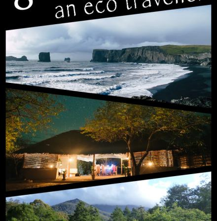 A selection of three images from Iceland, Mozamabique and Tasmania, advertising a post on 8 destination for the eco-conscious traveller