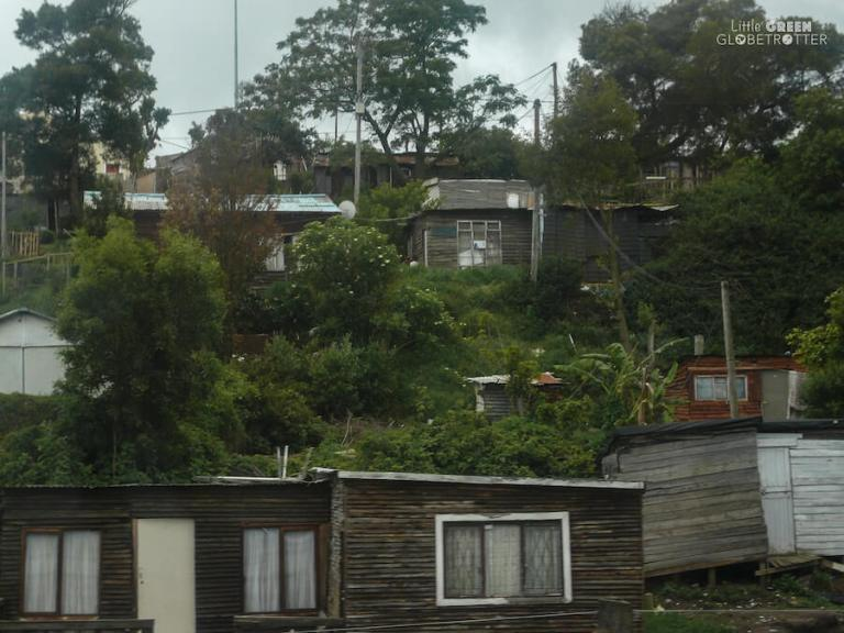 Make shift housing in a shanty town along South Africa''s Garden Route