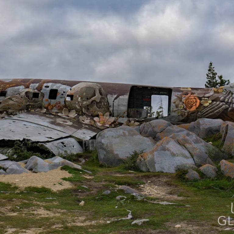 Miss-Piggy-plane-climate-change-mural-Churchill-Manitoba