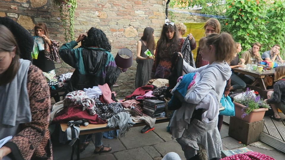 Clothes Swap Finds and Turning the Public Vegan!