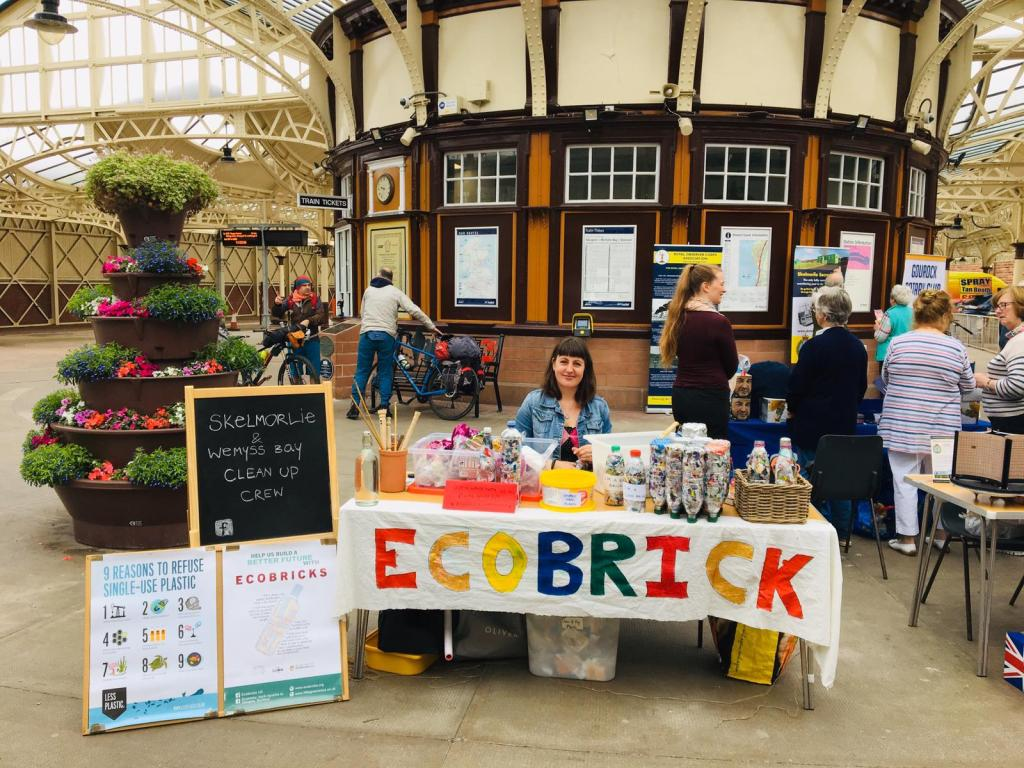 Naomi - Ecobricks at Wemyss Bay Station