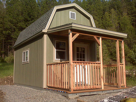 building a tuff shed home little house in the valley. Black Bedroom Furniture Sets. Home Design Ideas