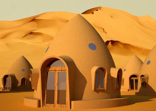 ObiWan, are you there? Just Kidding! This is one tiny Earthbag home design from the Natural Building Blog.