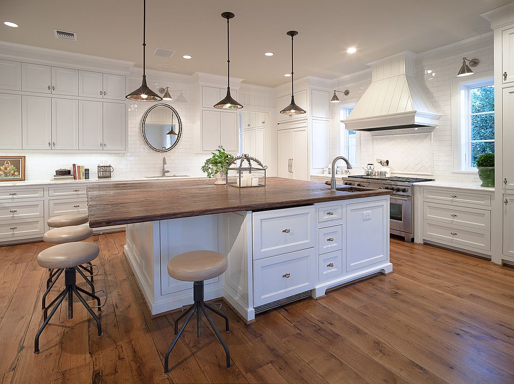 wood-top-kitchen-island-bright-farmhouse-kitchen - little house of could