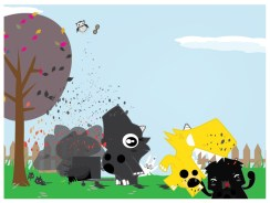 Happy Birthday Dino Illustration Part II