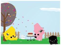 Happy Birthday Dino Illustration