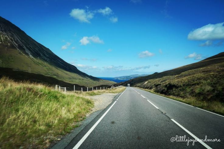 Driving through Isle of Skye