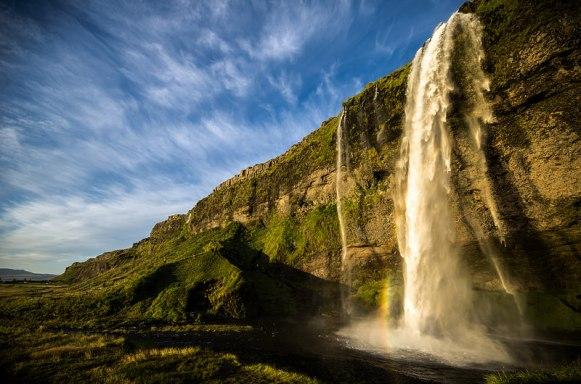 Seljalandsfoss Waterfall Sunset