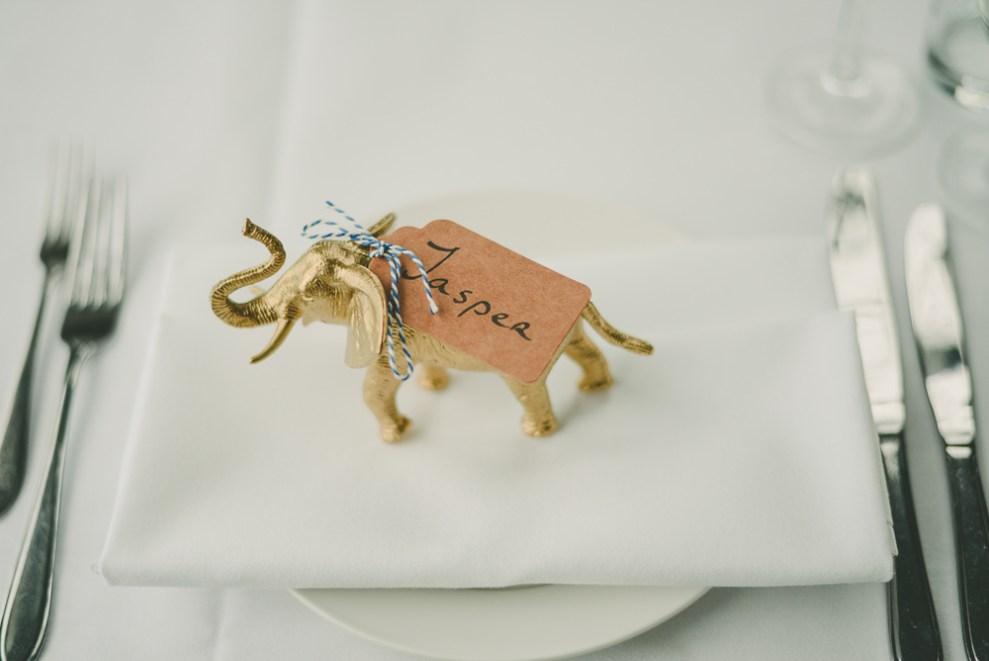 Wedding Dinner Amsterdam Bruiloft Gemeenlandshuis Gold Plastic Animals