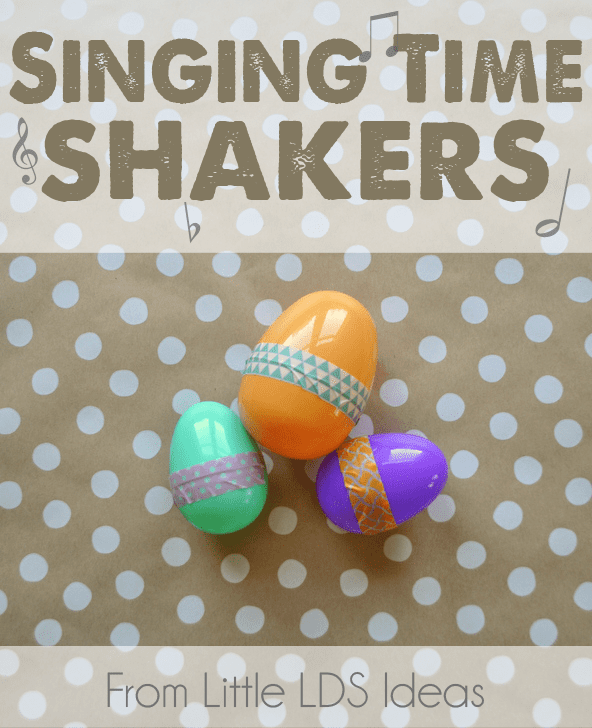 LDS Singing Time Ideas. Singing Time Shakers from Little LDS Ideas. These Singing Time Shakers would make a fun addition to your Singing Time activity. They are simple to put together, but provide hours of fun! #LDSSingingTime #LDSPrimary #LDS #SingingTimeIdeas