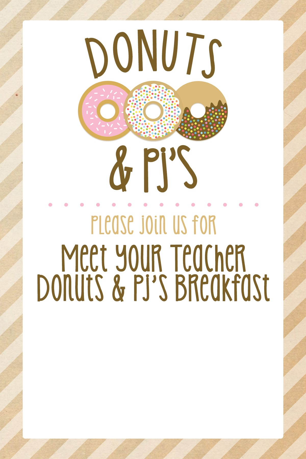 Donuts and PJ's Primary Party