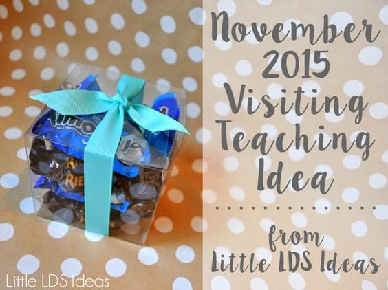 General Conference Visiting Teaching Treat Idea and Printables from Little LDS Ideas. Help your sisters study the recent General Conference addresses with this fun Visiting Teaching idea.