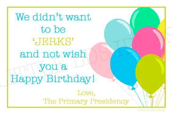 LDS Jerky Birthday Tag