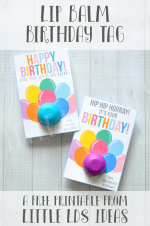 Lip Balm Birthday Card Printable