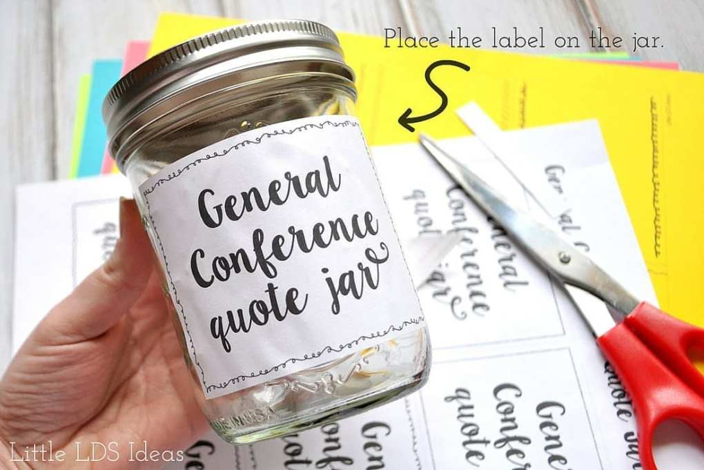 General Conference Quote Jar 3