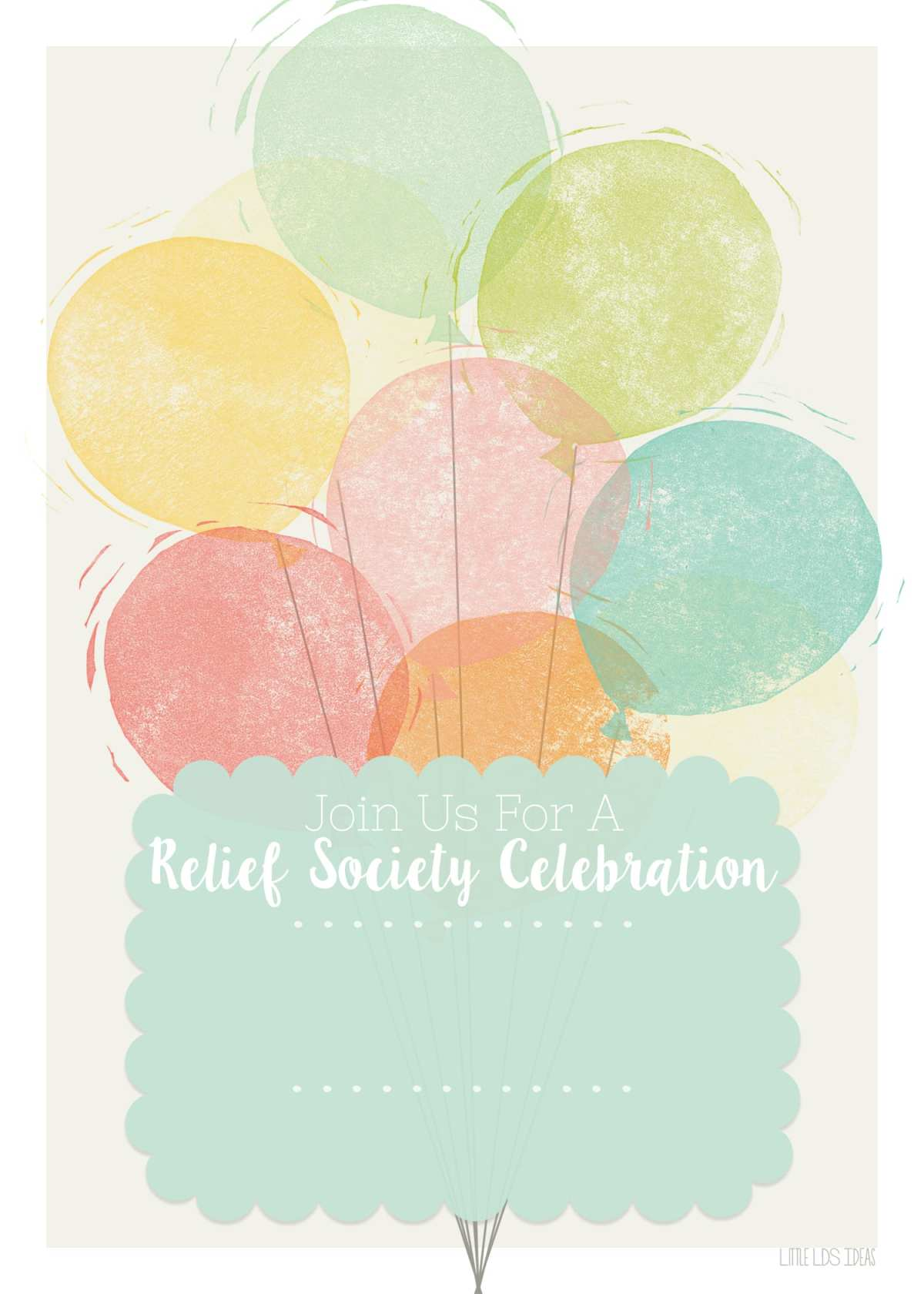 Relief Society Birthday Invitation