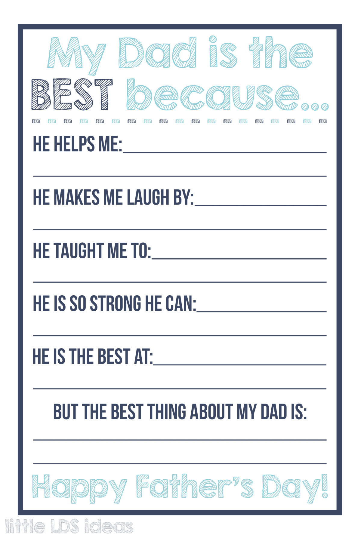 Best Dad Questionnaire