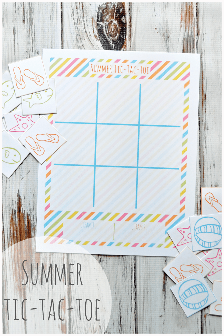 Summer Tic-Tac-Toe Printable. Enjoy this FREE printable from Little LDS Ideas. This fun summer themed game is perfect for those lazy summer days.