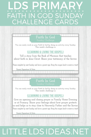 Faith in God Sunday Challenge Cards