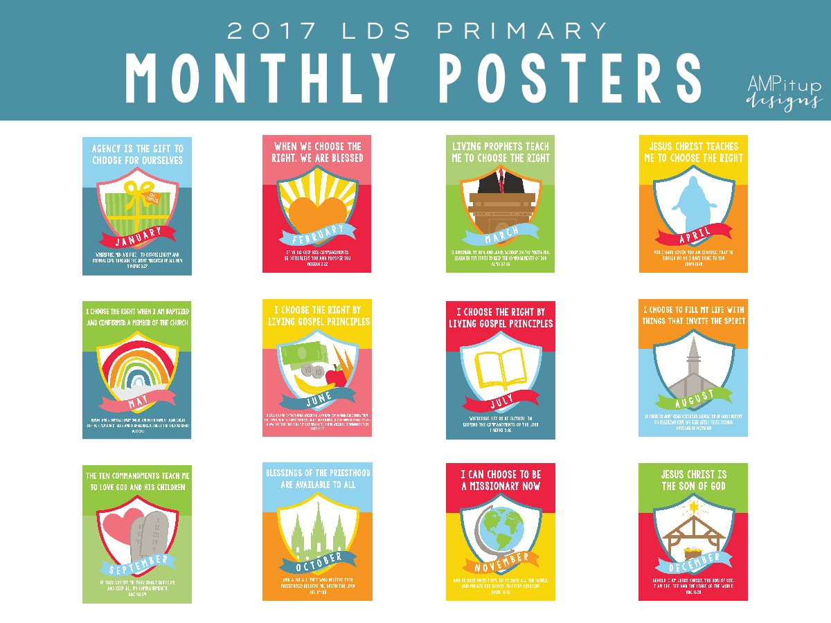 2017 LDS Primary Monthly Theme Poster