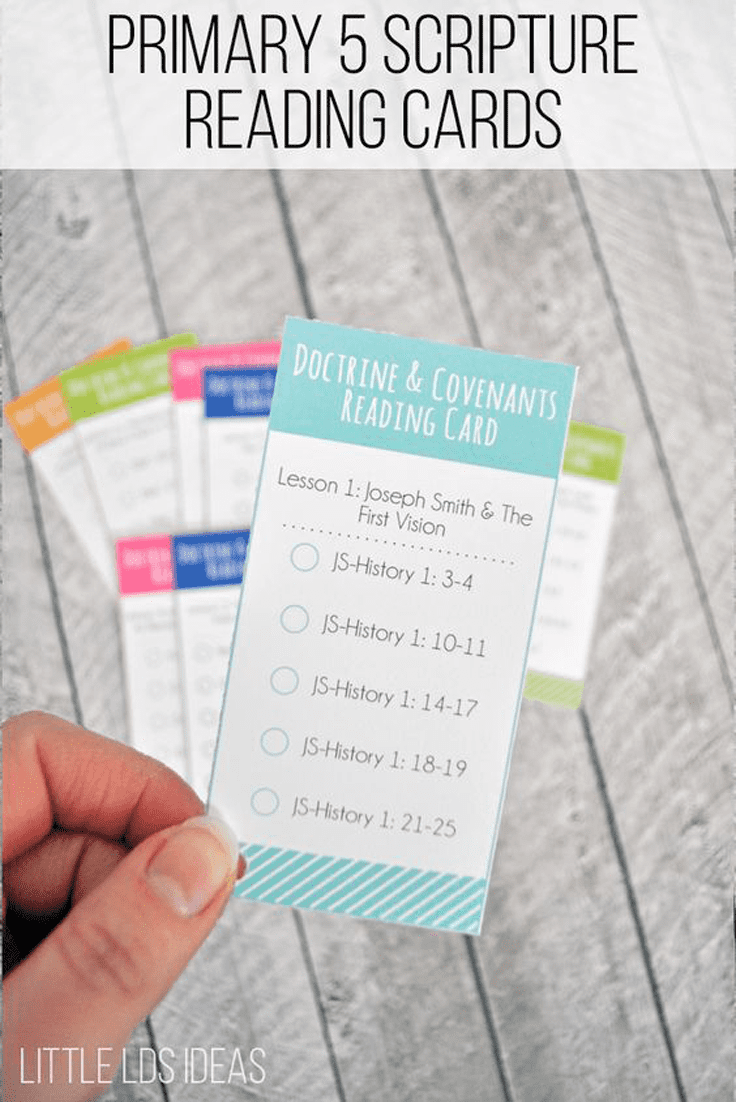 Primary 5 Lesson Helps. Help the children read their scriptures with these Doctrine and Covenants & Church History Scripture Reading Cards.