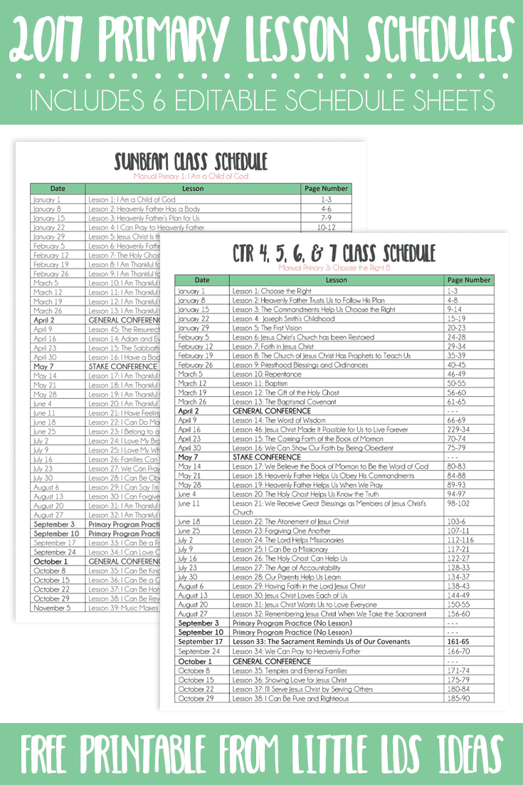 schedule sheets free