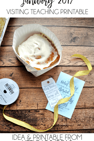 LDS Ministering Cinnamon Roll Handout