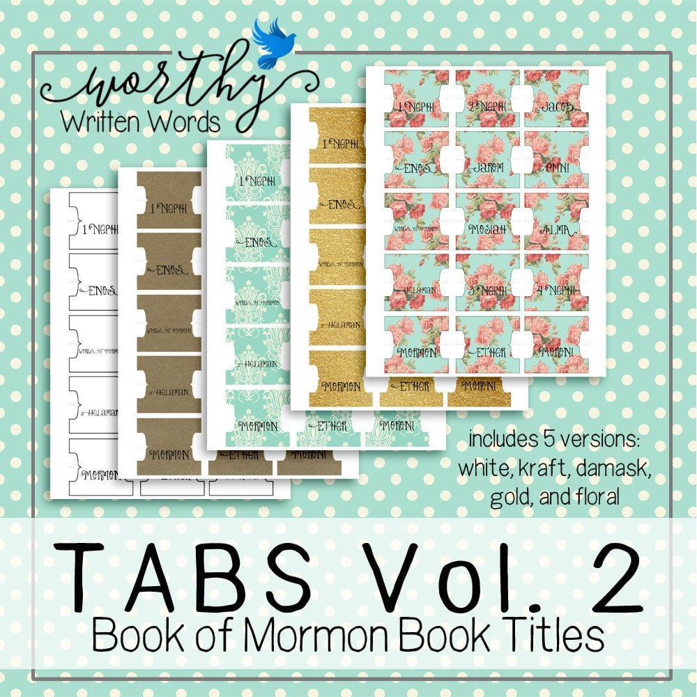 Book of Mormon Scripture Tabs