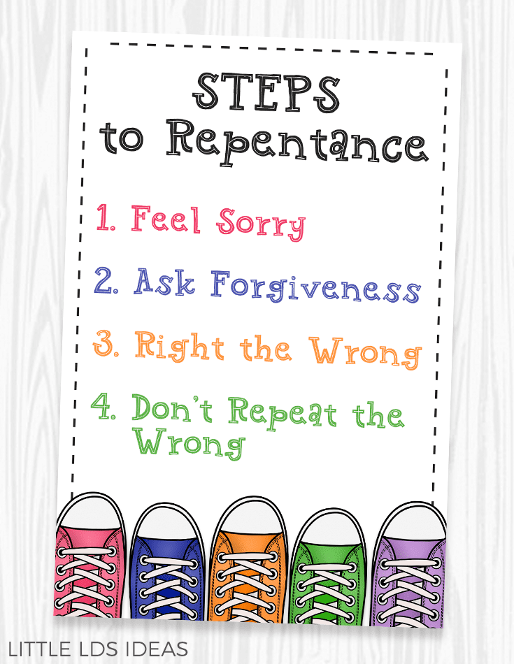 Steps to Repentance Handout