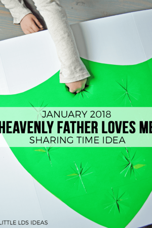 January 2018 Sharing Time Idea