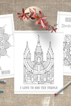 Free LDS Coloring Pages | www.LittleLDSIdeas.net