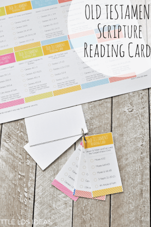 Primary 2018 Old Testament Scripture Reading Cards